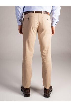 Dufy Erkek Bej Düz Pantolon - Regular Fit 2