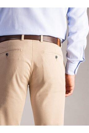 Dufy Erkek Bej Düz Pantolon - Regular Fit 3