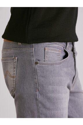 Dufy Erkek Gri Düz  Slim Fit Kot Pantolon - 1