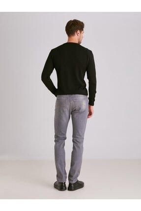 Dufy Erkek Gri Düz  Slim Fit Kot Pantolon - 3