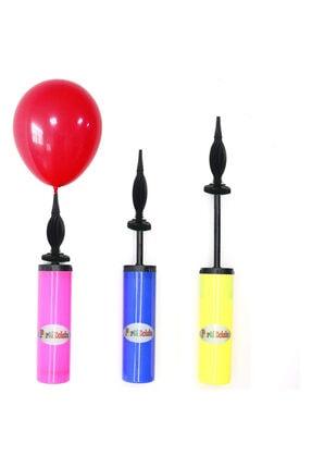 Parti Dolabı 1 Adet Renkli Balon Şişirme Pompası 1