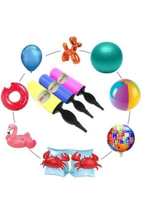 Parti Dolabı 1 Adet Renkli Balon Şişirme Pompası 4