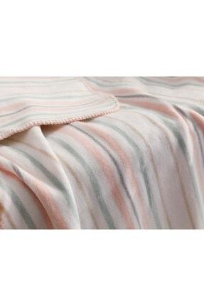 English Home Softy Stripe Pamuklu Bebe Battaniye 100x120 Cm Pembe 2