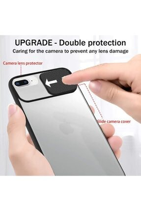 Cimricik Iphone 6 Plus 6s Plus Uyumlu Sürgülü Kamera Korumalı Silikon Kılıf 1