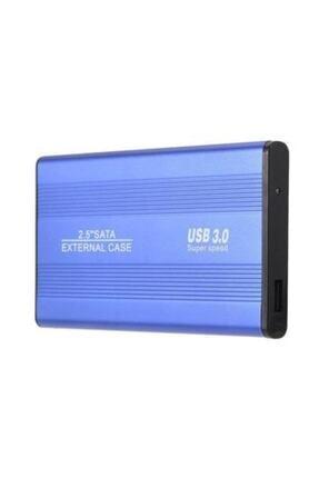 MAXGO 2.5 Inç Usb 3.0 Sata Harddisk Hdd Kutusu 5 Gbps + Kılıf - Mavi Aluminyum Ssd 1