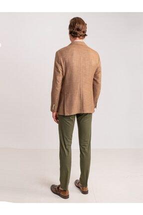 Dufy Haki Pamuk Likra Karışımlı Erkek Pantolon - Classic Fit 3
