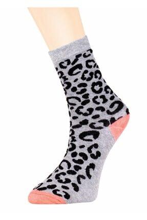 Suwen Leopar Soket Çorap 0