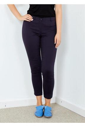 Adze Kadın Lacivert Klasik Kesim Dar Paça Pantalon Laci 44 0