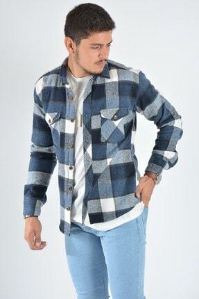 Terapi Men Erkek Kareli Oduncu Gömleği 20k-4300557 Mavi 1