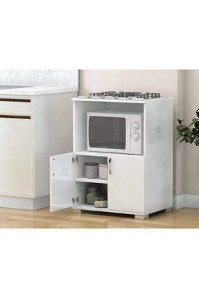 Remaks Çok Amaçlı Set Altı Dolap Mutfak Mikrodalga Fırın Dolabı - Beyaz 0