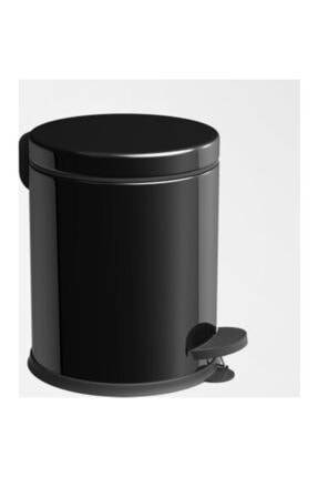 Berta Hijyen Berta 2'li Siyah Banyo Seti Çöp Kovası Tuvalet Fırçası 1