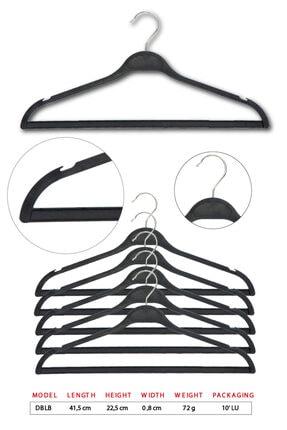 Tena Moda Unisex Siyah Dolgulu Kıyafet Elbise Gömlek Pantolon Etek Askısı 10 Adet 0