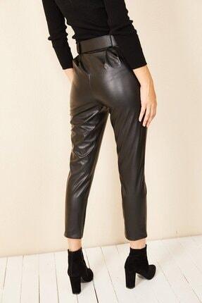 HAKKE Havuç Model Deri Pantolon 4