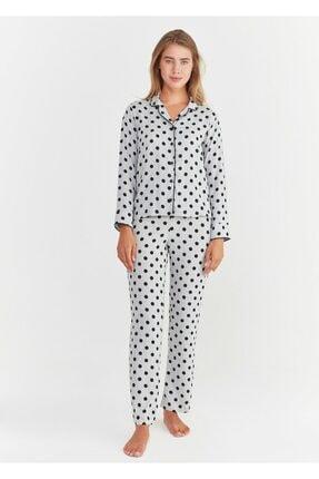 Suwen Pointy Maskulen Pijama Takımı 1