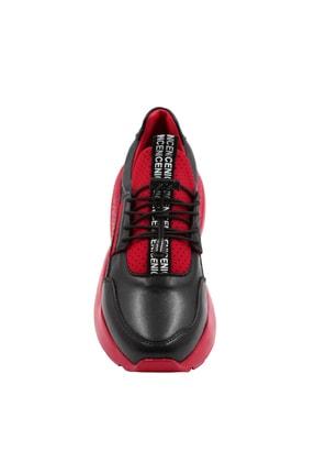 Abbondare Hakiki Deri Siyah-kırmızı Kadın Spor Ayakkabı-sneaker 2