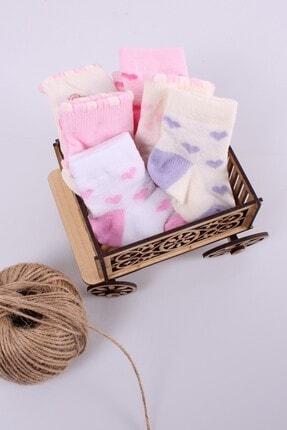 Babydonat Kız Bebek Çorabı 6 Adet 0-3 Ay 4
