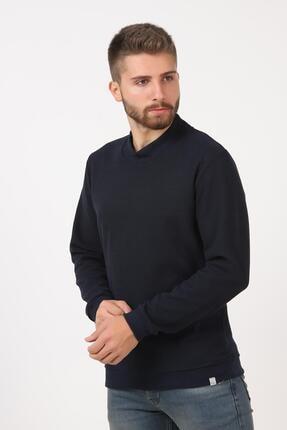 Tena Moda Erkek Lacivert Yarım Balıkçı Yaka Selanik Sweatshirt 3