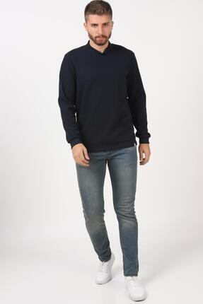 Tena Moda Erkek Lacivert Yarım Balıkçı Yaka Selanik Sweatshirt 4