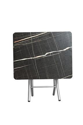 ORMANCA Katlanır Kırma Kabartma Taş Desen 60x60 Katlanabilir Masa 0