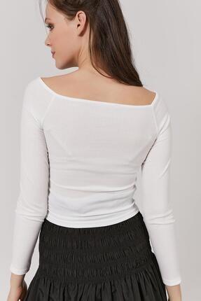 Pattaya Kadın Göğüs Dekolteli Uzun Kollu Bluz Y20w145-sa072 3