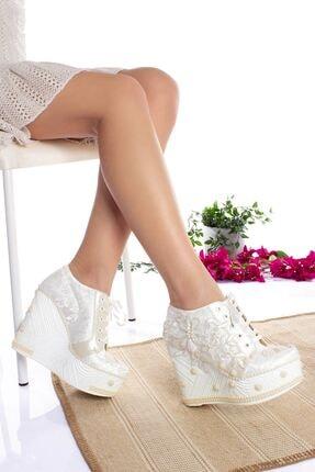 Dolgu Topuk Gelin Ayakkabı DRG0502