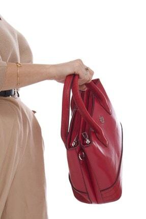 Fume London Kırmızı Iki Bölmeli Kadın Askılı El Çantası Ve Omuz Çantası Fb3082 4