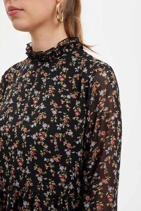Defacto Etek Ucu Volanlı Oversize Fit Elbise 2