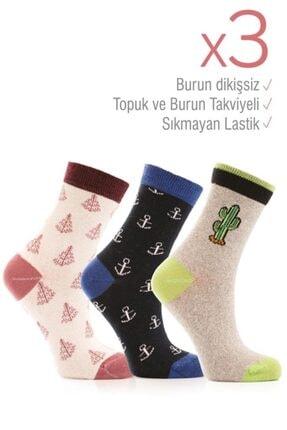 Miorre 3lü Bayan Soket Çorabı 0