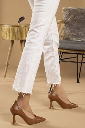 Tessera Kadın Camel Topuklu Stiletto Ayakkabı 2
