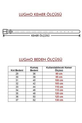 LUGMO 2 Adet Hakiki Deri Erkek Kemer 4 Cm Siyah Kumaş Ve Kot Uyumlu Faturalı 3