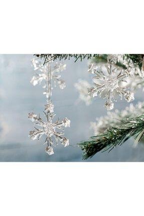 English Home Snowflake Cam 3'lü Askılı Aksesuar 6,5 Cm Şeffaf 0
