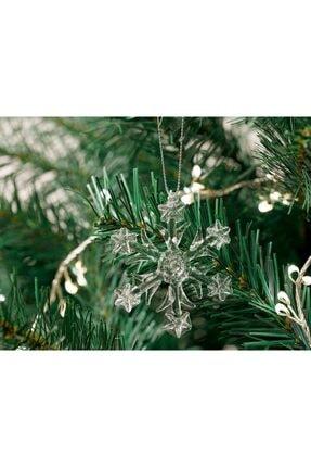English Home Snowflake Cam 3'lü Askılı Aksesuar 6,5 Cm Şeffaf 1