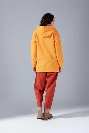 Mizalle Youth Kuş Gözü Bağcıklı Sweatshirt (Safran) 3