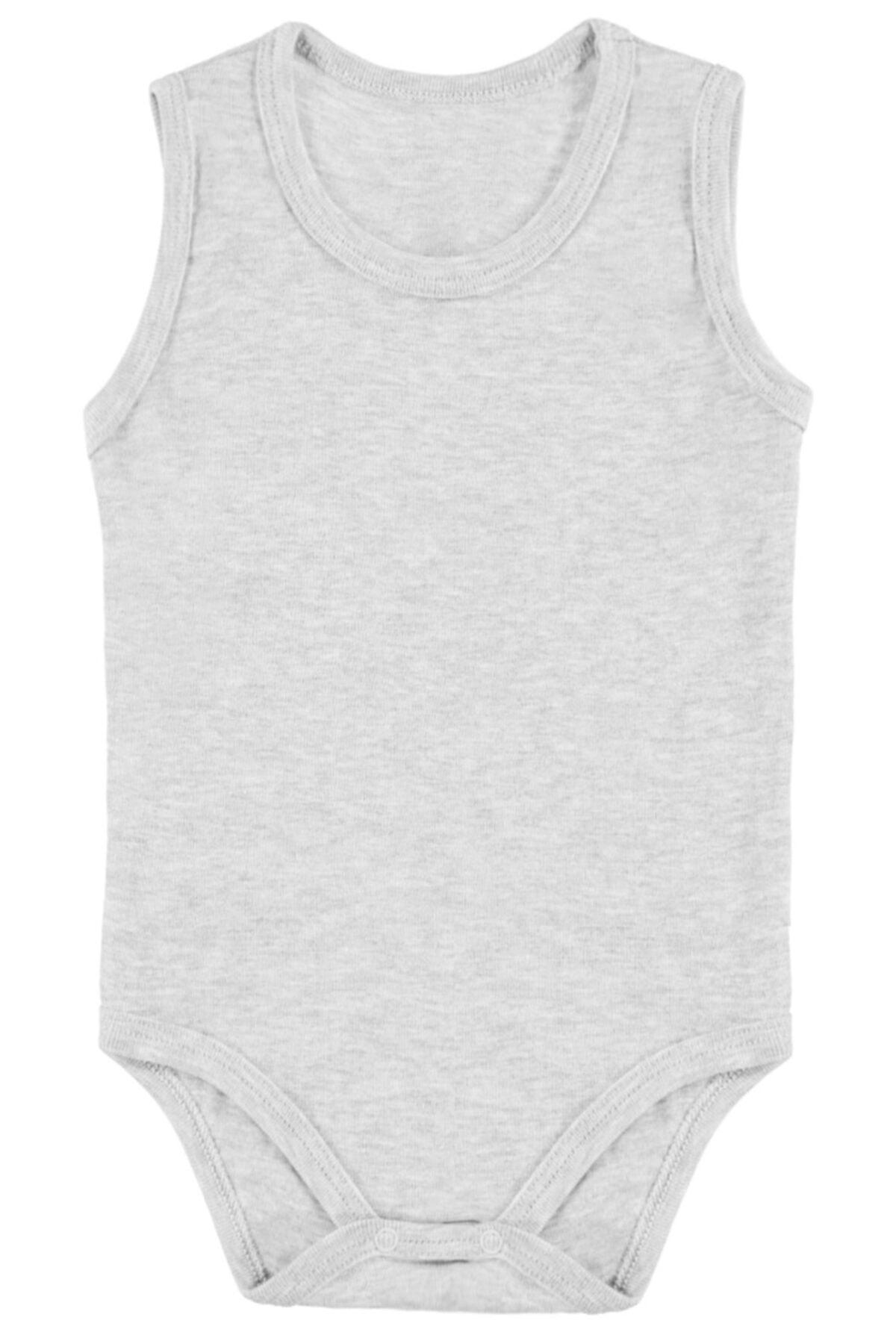 Lilax Kız-erkek Bebek Pamuklu Çıtçıtlı Kolsuz Body 2'li Set