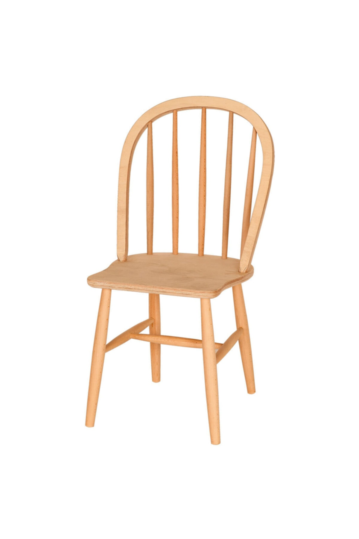 Amerikan Sandalye Ham Cilasız Ahşap
