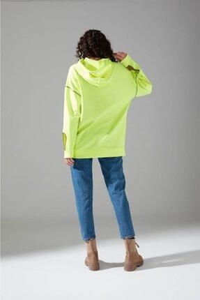 Mizalle Youth Neon Karyoka Sweatshirt (Yeşil) 4