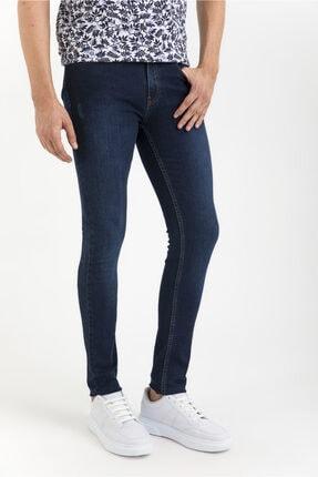 Avva Erkek Lacivert Slim Fit Jean Pantolon A01y3571 1