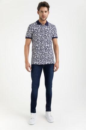 Avva Erkek Lacivert Slim Fit Jean Pantolon A01y3571 3