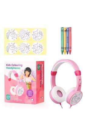 Snopy Pembe Çift Kablo Girişli Çocuk Kulaklığı ( Paket Içersinden 4 Adet Pastel Kalem Boya Çıkıyor ) 1