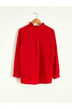LC Waikiki Kadın Kırmızı  Gömlek 2