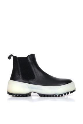 BUENO Shoes Hakiki Deri Kadın Dolgu Topuk Bot 01wr4701 0