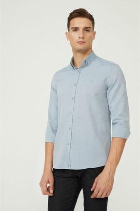 Avva Erkek Koyu Mavi Oxford Düğmeli Yaka Regular Fit Gömlek E002000 0