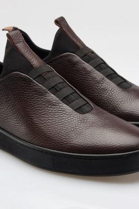 Alba Kahve Hakiki Deri Günlük Erkek Ayakkabı 3