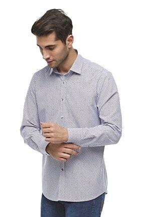 Otto Moda Uzun Kollu Desenli Erkek Gömlek 0