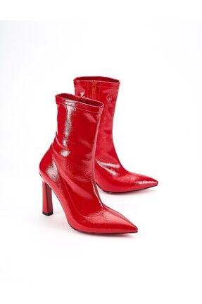 Ataköy Ayakkabı Kadın Rugan Topuklu Bot 3