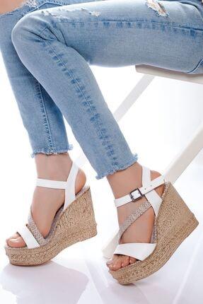 derithy -dolgu Topuklu Ayakkabı-beyaz 0