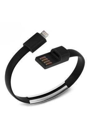 CODEGEN Apple Lightning Uyumlu Siyah Bileklik Şarj Data Kablosu 0