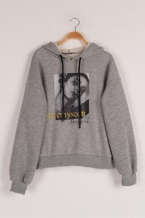 Lavien Kız Çocuk Transfer Baskılı Şardonlu Sweatshirt 0