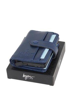 LEGAN Unisex Lacivert Otomatik Mekanizmalı Cüzdan 4