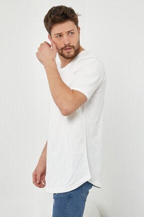 Tarz Cool Erkek Kırık Beyaz Pis Yaka Salaş T-shirt-tcps001r56s 4